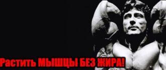 как нарастить мышцы без жира
